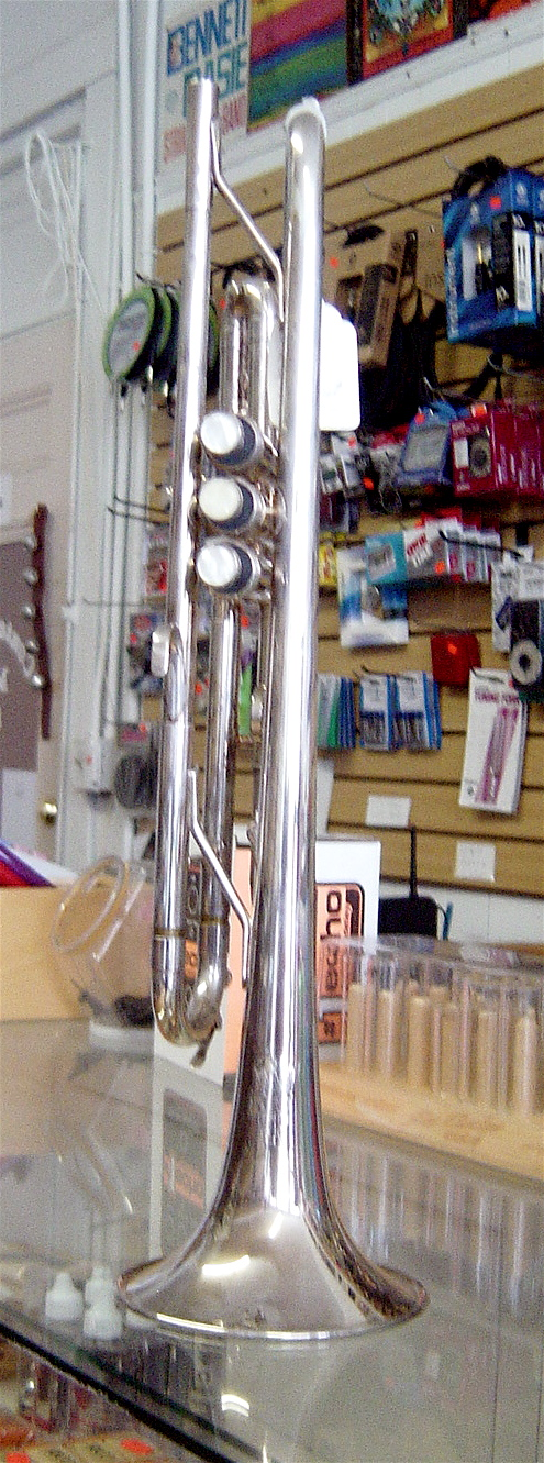 Used King Tempo 600 Silver trumpet