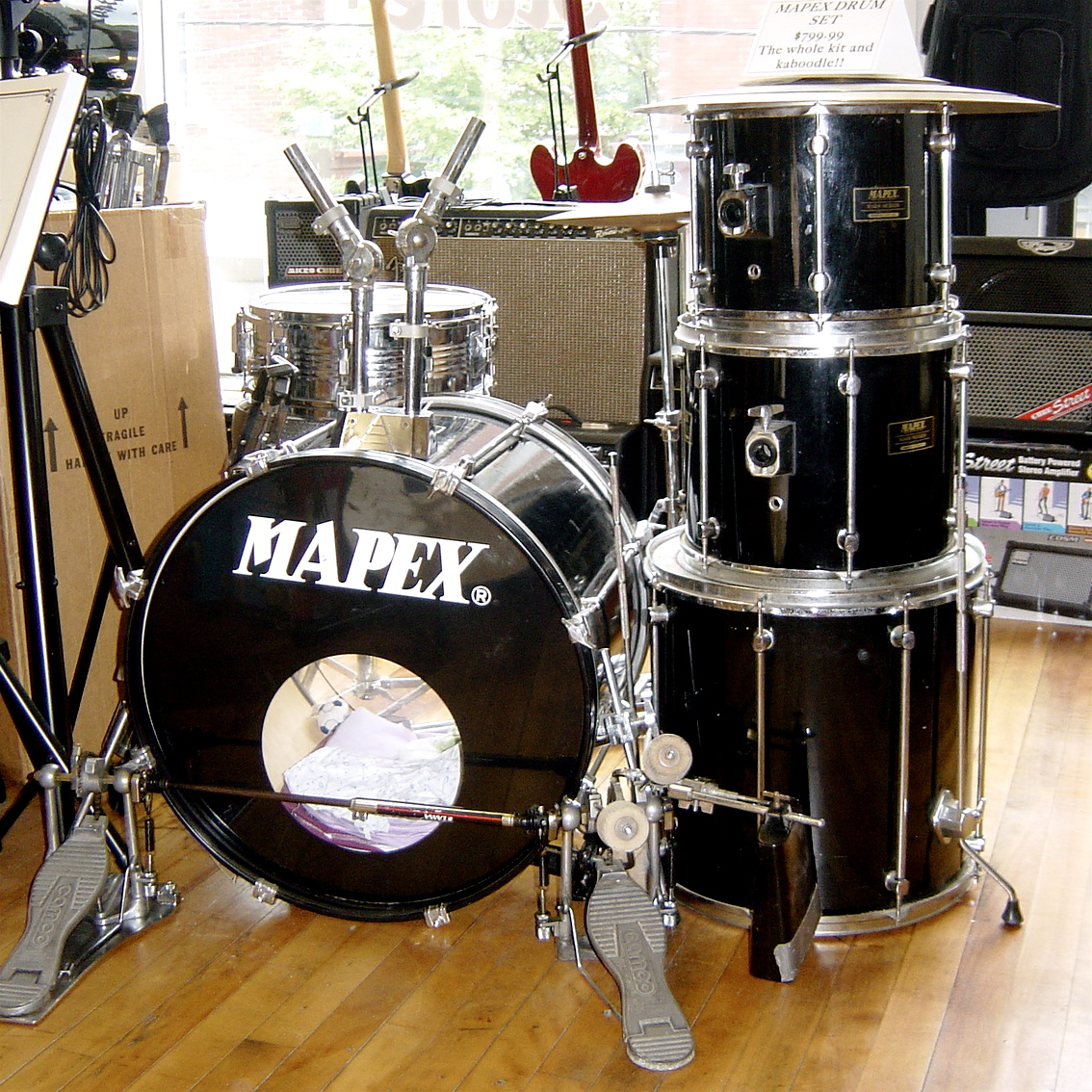 Used Mapex Drum Set.
