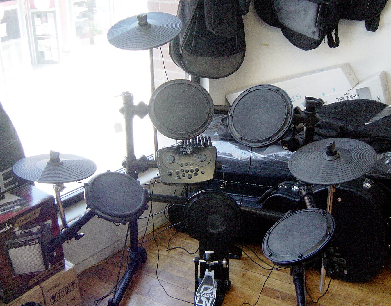 Used Simmons SD7K Electronic Drum Set